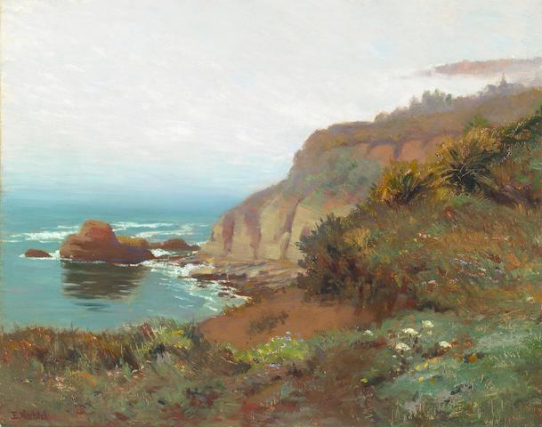 Elmer Wachtel (American, 1864-1929) Foggy Coast 16 x 20 1/2in