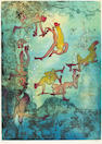 Roberto Matta (2) Cherche Eve and Feuilles Ouvertes color etching and aquatints