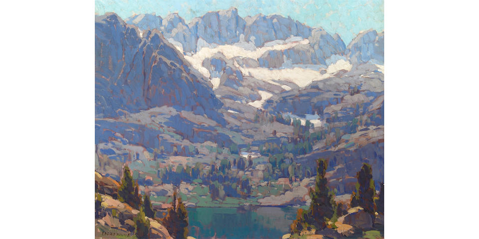 Edgar Payne (American, 1883-1947) Lake in the Sierras 28 x 34in