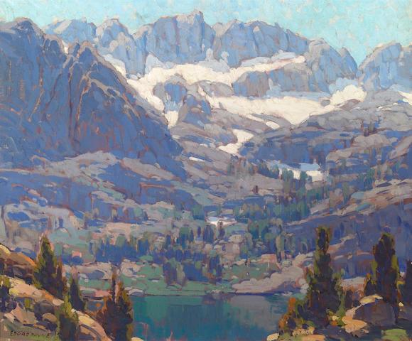 Edgar Payne (American, 1883-1947) Lake in the Sierras 28 x 34in