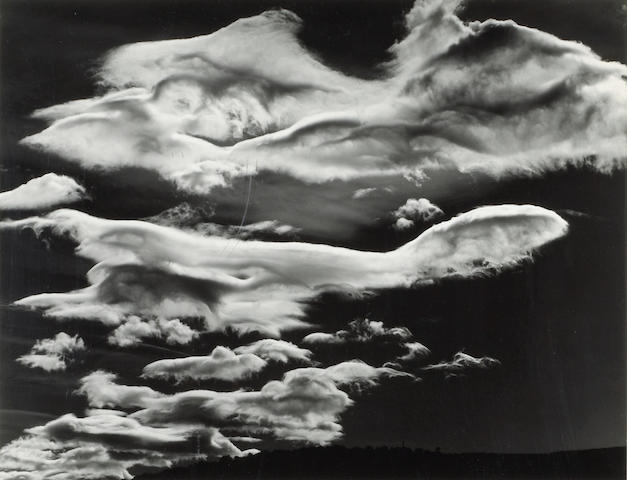 Brett Weston (American, 1911-1993); Clouds, Owens Valley;