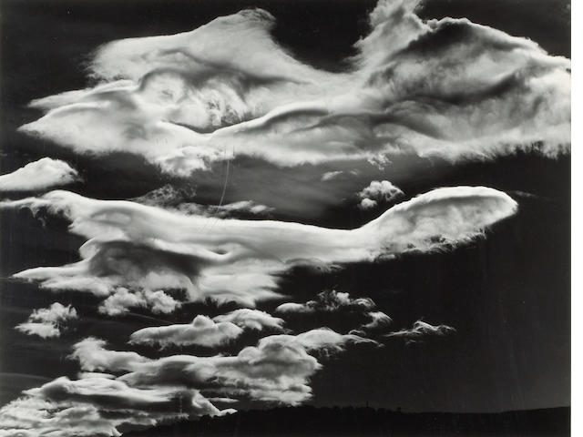 Brett Weston, Clouds, Owens Vally, 1968;