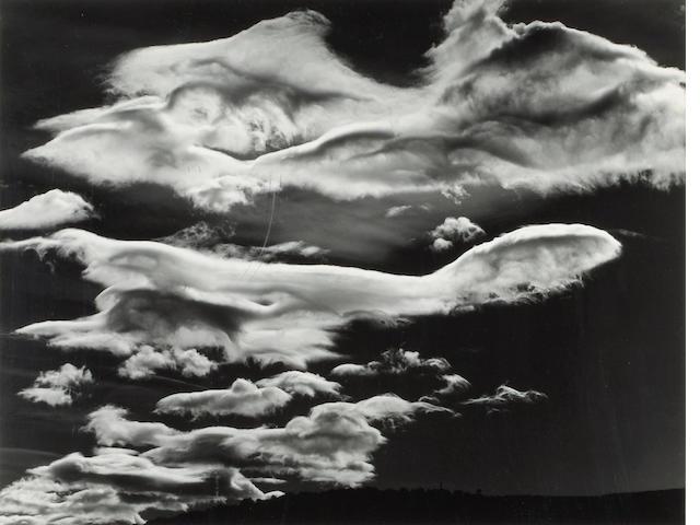 Brett Weston, Clouds, Owens Vally, 1968;