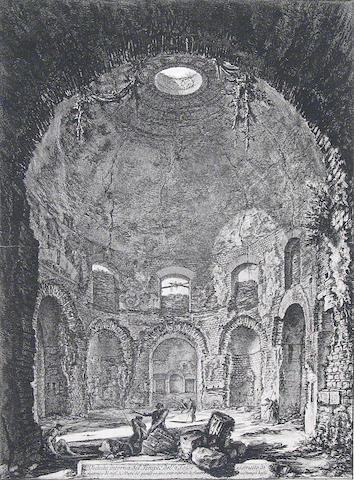 Giovanni Battista Piranesi Veduta interna del Tempio della Tosse