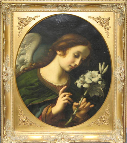 After Carlo Dolci   The angel of the annunciation, Archangel Gabriel 28 1/4 x 22in