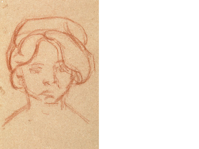 Louis Valtat Portrait of a Girl sanguine on paper (TBD by Frank Hettig)