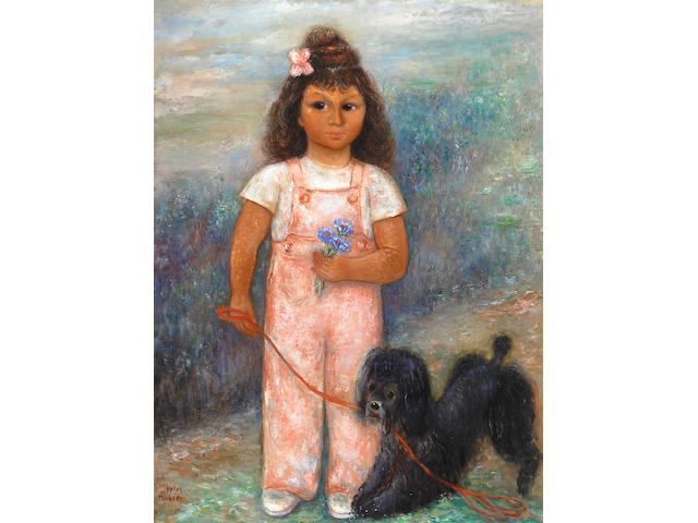 Reuven Rubin (Israeli, 1893-1974) Little Girl from Venezuela, c. 1940 40 x 30in (101.6 x 76.2cm)