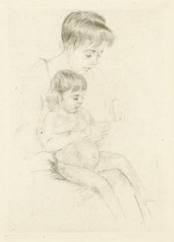 Mary Cassatt The Manicure (B.99) drypoint