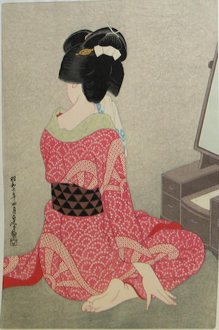Hirano Hakuho (1879-1957): two wood block prints