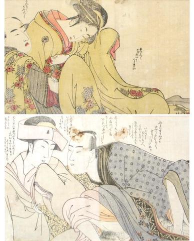 Japanese shunga woodcuts (3)