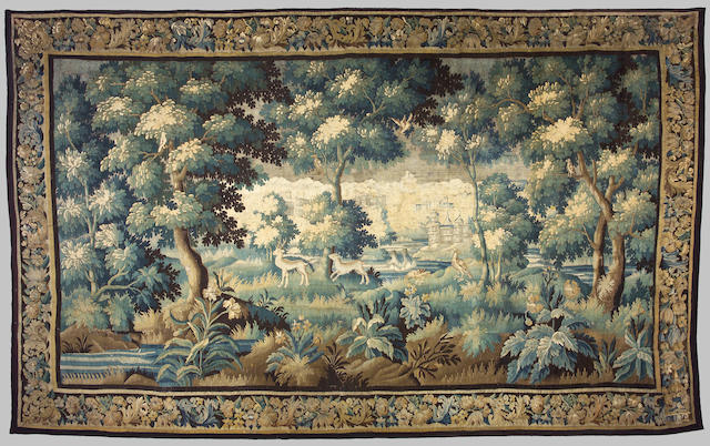 A Flemish Baroque verdure tapestry, Late 17th century