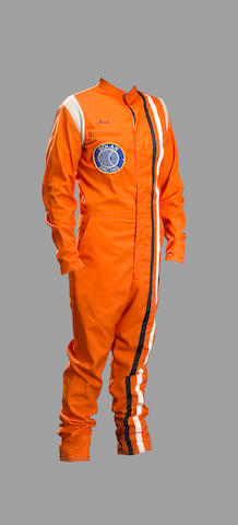 "A race driver's suit ""Solar Racing"", used circa 1970,"