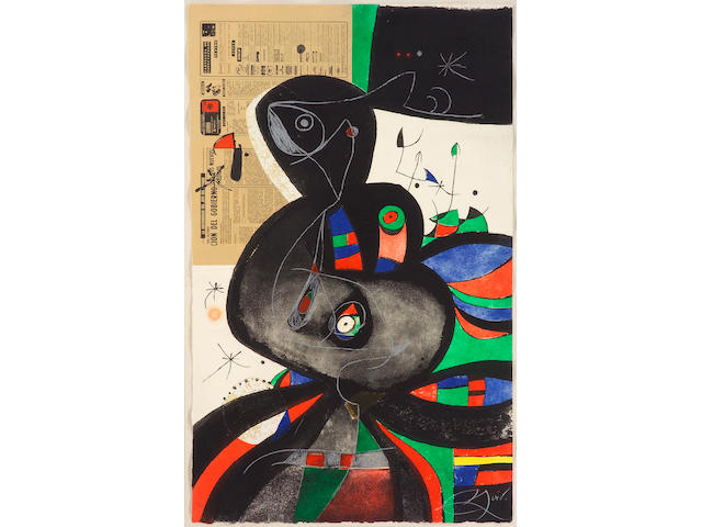 Joan Miró (Spanish, 1893-1983); Gaudí XXI;