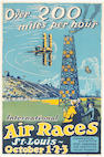 A St. Louis International Air Race poster, after Carl Water, circa 1930,