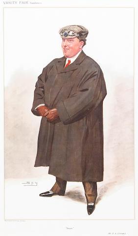 Frederick Abernethy Coleman 'Steam', after Spy, an original Vanity Fair print, 1907,