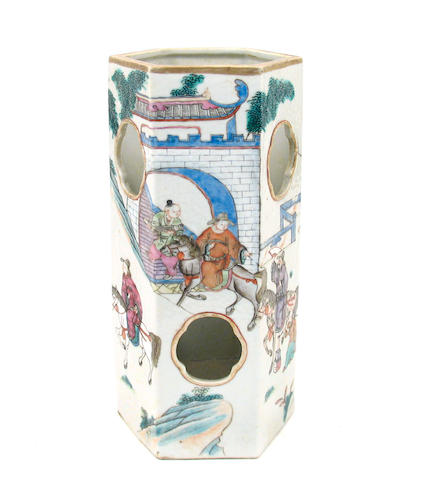 A Chinese porcelain hat stand