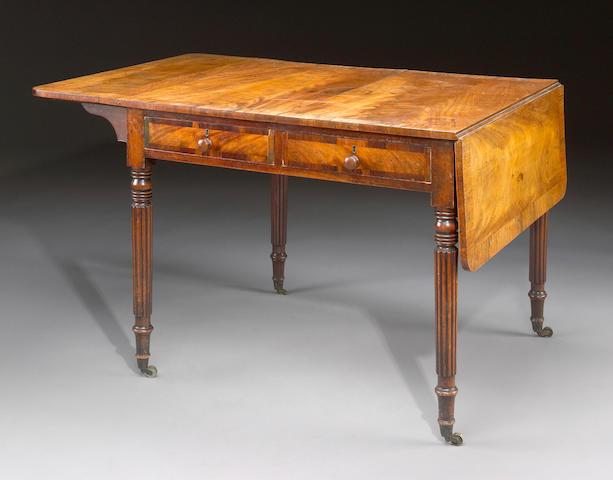A William IV mahogany sofa table