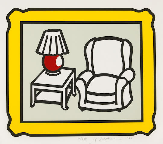 Roy Lichtenstein (American, 1923-1997); Red Lamp ;