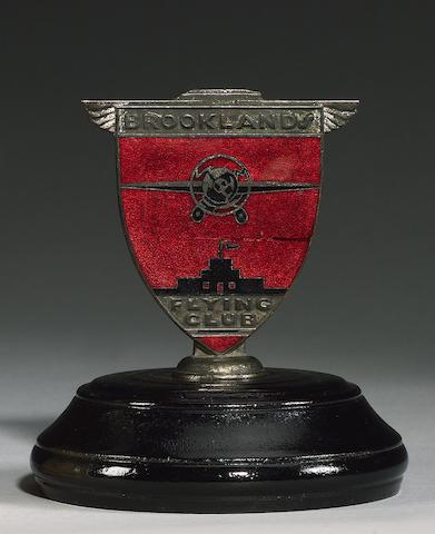 A rare and early Brooklands Flying Club member's badge, British, 1920s,