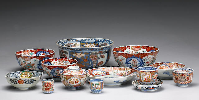 An assembled group of Imari Porcelain Dinner service
