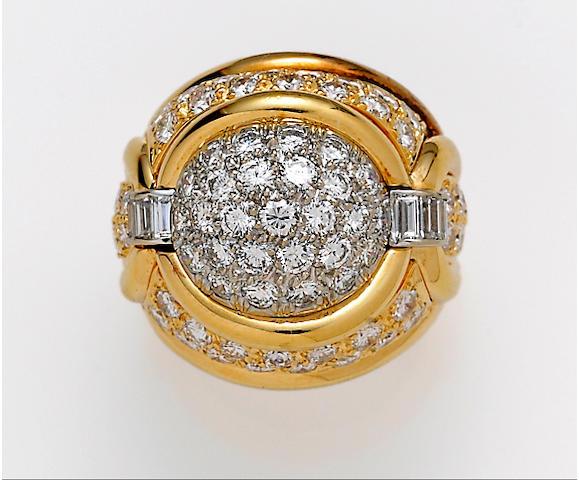A diamond and eighteen karat gold ring, Henry Dunay