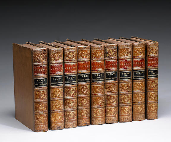 GIBBON, EDWARD. 1737-94. The History of the Decline and Fall of the Roman Empire. L, 1776-88, and Mi