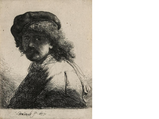 Rembrandt Harmenszoon van Rijn Self-Portrait in a Cap and Scarf