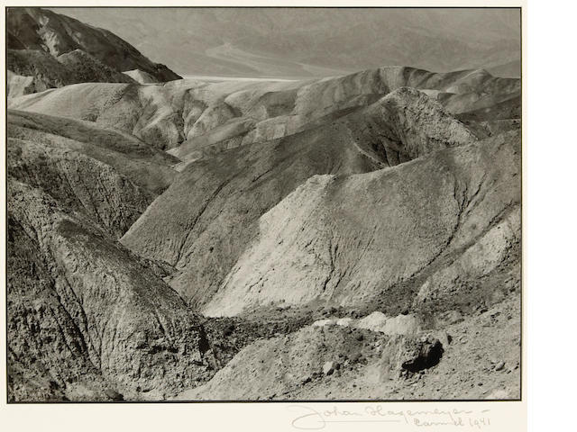 Johan Hagemeyer (Dutch/American, 1884-1962); Death Valley (near Golden Canyon);