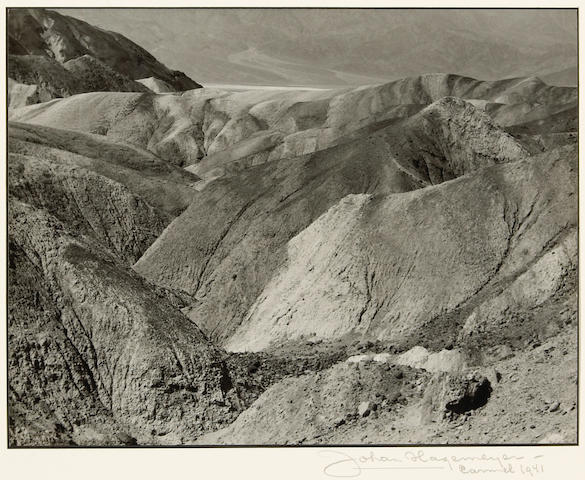 Johan Hagemeyer (Dutch/American, 1884-1962); Death Valley (near Golden Canyon);