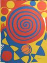 Alexander Calder Red Swirl;