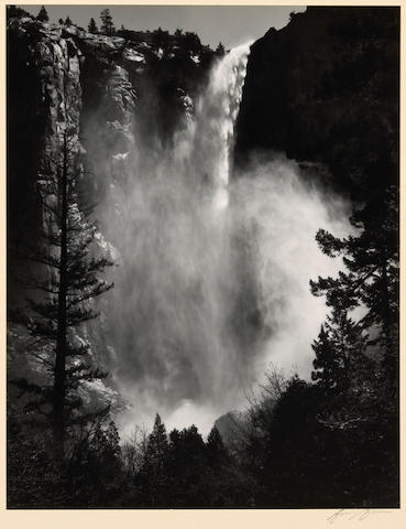 Ansel Adams (American, 1902-1984); Bridal Veil Falls, Yosemite Valley;