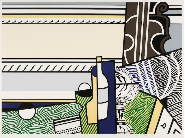 Roy Lichtenstein (American, 1923-1997); Still Life with Crystal Bowl;