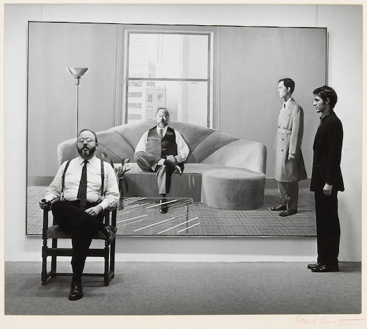 Cecil Beaton (British, 1904-1980); Henry Geldzahler and Christopher Scott in front of David Hockney