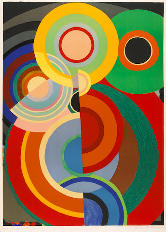 Sonia Delaunay Composition lithograph