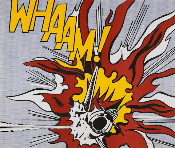 After Roy Lichtenstein; Whaam!;