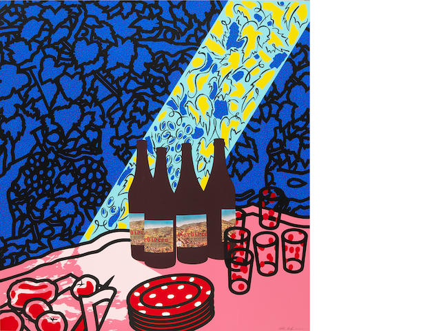 Patrick Caulfield (British, 1936-2005); Picnic Set; Pink Jug; (2)