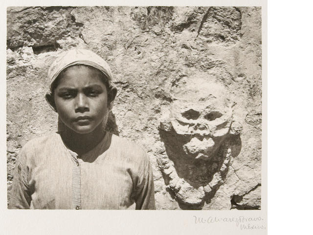 Manuel Alvarez Bravo (Mexican, 1902-2002); Niño Maya de Tulum (Mayan Child of Tulum), from Platinum