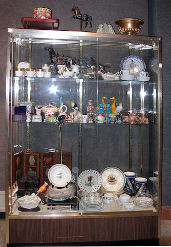 A large assembled group of ceramics, glass, metal and wood decorative items