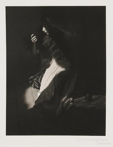 Manuel Alvarez Bravo (Mexican, 1902-2002); Retrato de lo Eterno (Portrait of the Eternal), from Platinum Portfolio;