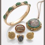A collection of gem-set, 18k and 14k gold jewelry