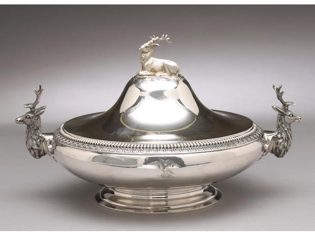 Silver Entree Dish with Cover by Vanderslice & Co.