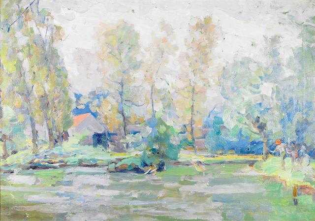 Joseph Raphael (American, 1869-1950) Spring Morning, Kriekeuput, 1918 26 x 37in
