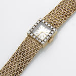 A La Leuba lady's diamond and 14k gold wristwatch