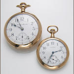 A Waltham gold-filled pocket watch, together with a Hampton Railroad special gold-filled pocket watch