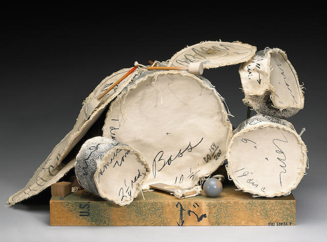 Claes Oldenburg (Swedish/American, born 1929); Miniature Soft Drum Set;