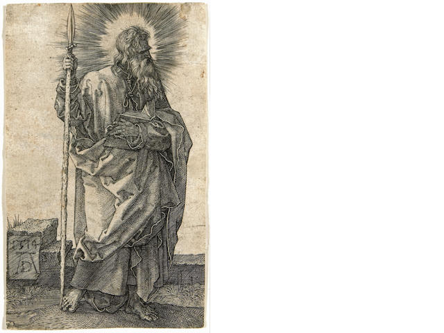 Albrecht Dürer (German, 1471-1528); St. Thomas;