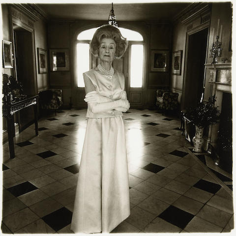 Diane Arbus (American, 1923-1971); Mrs. T. Charlton Henry - Evening Dress;