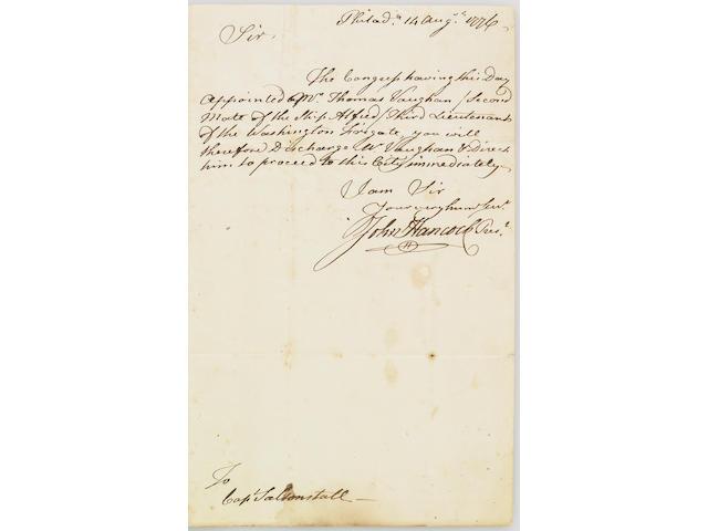 John Hancock manuscript