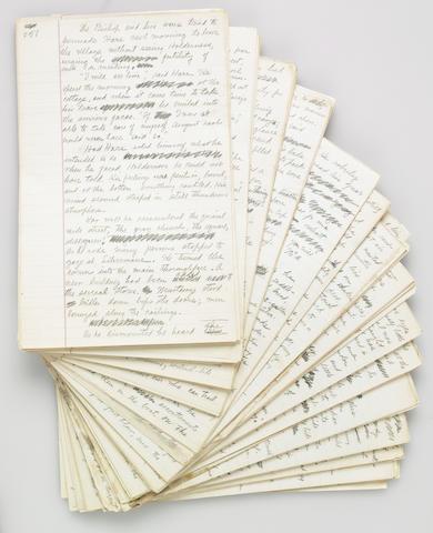 Grey, Zane. Holograph manuscript for Heritage on the Desert, pp 38-508