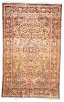 A Silk Kashan rug Central Persia, size approximately 4ft. 5in. x 7ft.